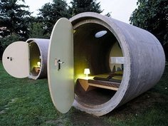 Daspark Hotel (Austria):  It is based on a unique idea. It offers small rooms in drainage pipes that are smallest hotels in the world. This unique and amazing hotel built in 2004.