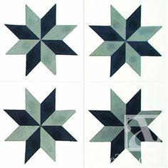 Stars Aligned - Geometric Geo 16 8x8 Handmade Cement Tile | Avente Tile
