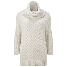 Buy Phase Eight Marina Cable Knit Jumper, Winter White Online at johnlewis.com