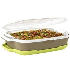 Gatherings 'Ultra' 9 x13 Bakeware and Insulated Server with Airgel3 Technology  Price : $99.00 http://shop.fit-fresh.com/Gatherings-Bakeware-Insulated-Airgel3-Technology/dp/B00IKMTT8O