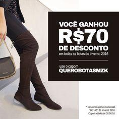 Quer desconto? A gente dá! Compre botas com R$70,00 de desconto!!! shop.miezko.com