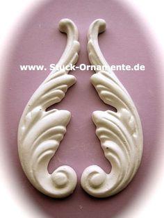 Wandtattoo - Echter Stuck - Stuck Ornament - Engelsflügel - ein Designerstück von RC-Stilmoebel bei DaWanda