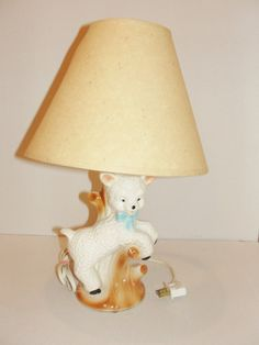 Adorable Nursery Lamp with Ceramic Lamb by christinescornershop, $35.00