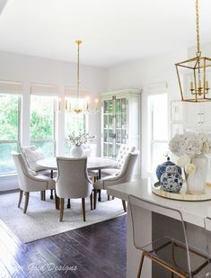 Summer Style Home Tour - Decor Gold Designs Home, Dining Room Design, Summer Home Decor, Living Room Modern, Dining Room Contemporary, Kitchen Styling, Inviting Home, Cosy Dining Room, Interior Design