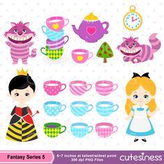 Alice Wonderland Digital Clipart Alice in Wonderland by Cutesiness
