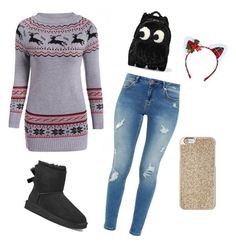 """""""Winteroutfit 3"""" by laurozic on Polyvore featuring Mode, Ted Baker, UGG, Anya Hindmarch, Leg Avenue und Michael Kors"""