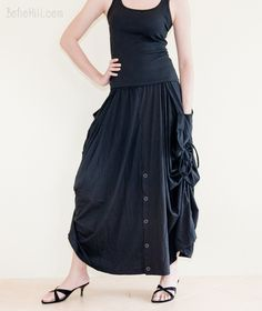 online shopping for BohoHill Convertible Maxi Skirt Pants Cotton Jersey Versatile Skirt from top store. See new offer for BohoHill Convertible Maxi Skirt Pants Cotton Jersey Versatile Skirt Maxi Skirt Black, Maxi Skirts, African Dashiki Shirt, Plus Size Swimsuits, Skirt Pants, Wide Leg Trousers, Chic Outfits, Boho Chic, Clothes For Women