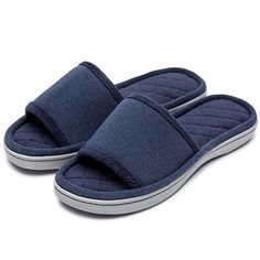 2407b394c1f1d Women s Comfort Memory Foam Cotton House Slippers Spa Shoes w Fleece Lining    Anti-
