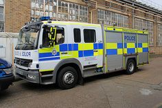 Tube Lines / British Transport Police Emergency Response Unit vehicle in Acton Works Police Truck, Police Patrol, Police Cars, Rescue Vehicles, Police Vehicles, Fire Equipment, Police Uniforms, Emergency Response, Military Police