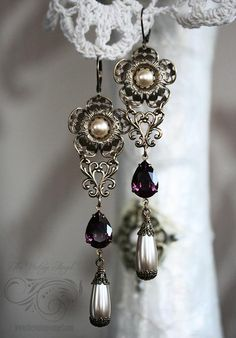 OOAK Pearl Reverie Earrings