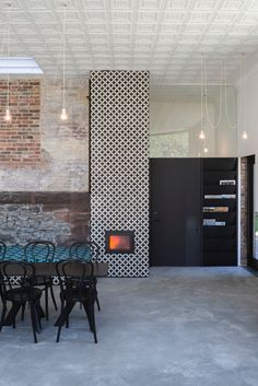 Dwell - A Historic Masonry Stove Becomes the Hidden Gem of a New Cafe