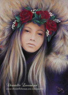 Maroussia, pastel sec sur pastelmat, format 70 x 50 cm Pastels, Crown, France, Corona, Crowns, Crown Royal Bags, French