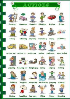 Action Verbs Picture Dictionary..love this idea