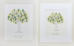 Pin for Later: 19 Free Wedding Guest-Book Printables That You'll Love Tree Thumbprint Guest Book