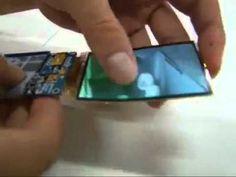 Esnek ve kırılmayan cep telefonu ekranı