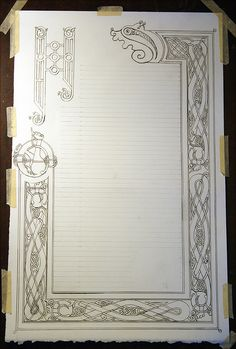 Aiden's scroll outline- | Flickr - Photo Sharing!