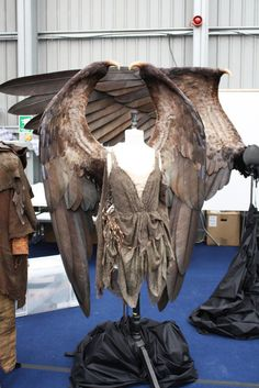 Practical wings created as a starting point for the CGI ones on Maleficent!