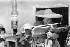 Henri Cartier-Bresson on the streets of Mexico. Magnum Photos has the story behind Cartier-Bresson's adventures. Los Remedios near Mexico City. Mexico. 1963