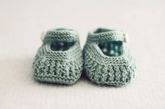 0-6 Month Lace Knit Baby Booties - Infant Baby Booties - Baby Newborn Girl Shoes - Newborn Baby Booties -Blue Sage Baby Booties