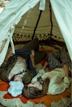 Build a blanket fort, and cuddle inside it.