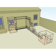 Maybe start with a small enclosure on the back of the kitchen and then add runs to the bottom of the garden later?