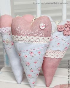 sewing idea for heart ♥                                                                                                                                                     More