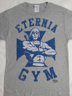 Masters Of The Universe He Man Eternia Gym Cartoon T-Shirt #MastersOfTheUniverse #GraphicTee