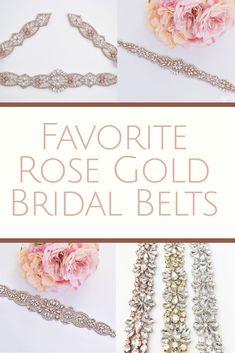 Rose Gold Bridal Belts | Bridal Sash | Wedding Belt |  Favorite Etsy Wedding items |  Inexpensive Bridal Belts  |  Custom Bridal Sash |  Champagne Bridal Belt