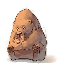 Cartoon Sketches, Animal Sketches, Animal Drawings, Cute Drawings, Bear Illustration, Character Illustration, Character Art, Character Design, Bear Drawing