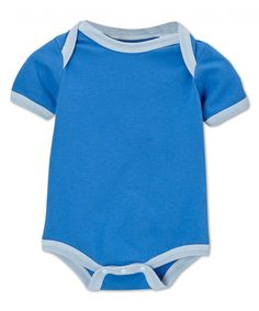 4f2578620 Pacific Blue & Sky Trim Bodysuit. Sage Creek Organics · Baby Boy Organic  Bodysuits