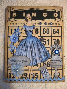 """""""Material Girl"""" stamp by Crafty Secrets."""