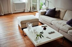 Collection of rooms for your inspiration — 26 - ShockBlast Style At Home, Interior Design Inspiration, Room Inspiration, Beige Couch, Beautiful Living Rooms, Wooden Flooring, House Colors, Living Spaces, Sweet Home