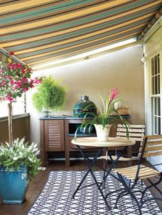 Covered patio.