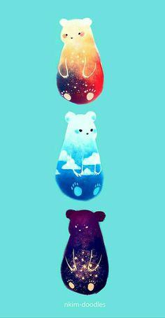 3 ursos