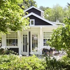 White Craftsman Exterior Home Design Ideas, Pictures, Remodel and Decor