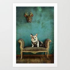 The Deer Hunter Art Print by Carla Broekhuizen - $24.00