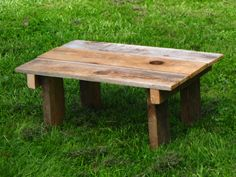 Small reclaimed barn wood table.