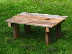 Small reclaimed barn wood table.