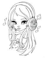 chica, musica. Close-Up Cuties by JadeDragonne on deviantART. Bonitas ilustraciones de chicas en su link de deviant art.