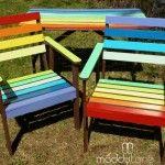 donner de la couleur arc-en-ciel chaises de jardin