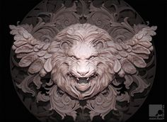 Lion Rosette, Nacho Riesco Gostanza on ArtStation at http://www.artstation.com/artwork/lion-rosette