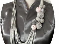 #Tuto collier fleurs en fils Hoooked Zpagetti DMC • Hellocoton.fr