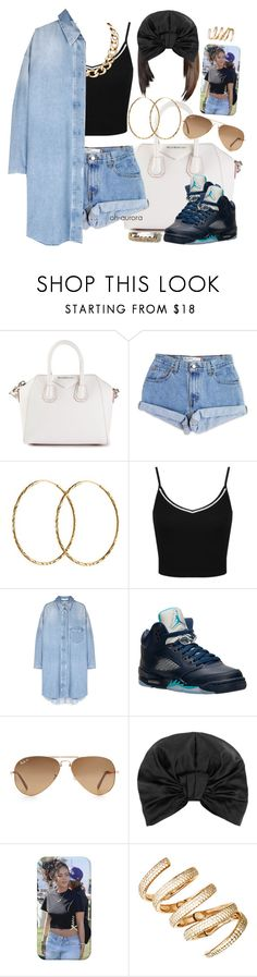 """""""Babe"""" by oh-aurora ❤ liked on Polyvore featuring Givenchy, Levi's, Pernille Corydon, Miss Selfridge, Retrò, Ray-Ban and Jennifer Behr"""