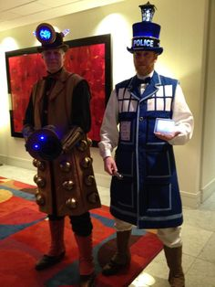 Tardis and Dalek Cosplay at Dragon Con 2012