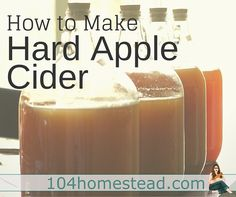 Learn to make hard apple cider at home. It's both easy to make and delicious.