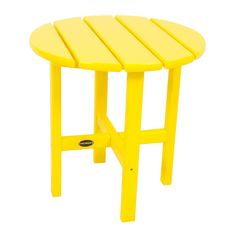 Polywood Round Patio Side Table - Yellow
