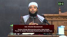 Minhajulmuslim, Bab Adab, Pasal 3: Adab Terhadap Kalamullah (Al-Qur'anul...