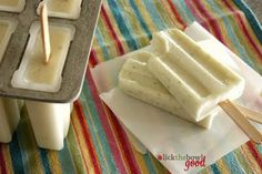 Lick The Bowl Good: Summer On A Stick Coconut Lime Popsicles Frozen Desserts, Frozen Treats, Just Desserts, Dessert Recipes, Frozen Key Lime Pie, Frozen Yogurt, Sorbets, Summer Treats, How Sweet Eats