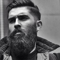 Chris John Millington - full thick dark beard and mustache beards bearded man men mens style hair cut barber bearding handsome