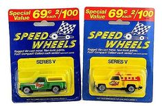 MOC Pair of 2 Speed Wheels Pick Up Trucks Bandit & Flash!